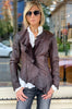 Capri Ruffle Leather Jacket
