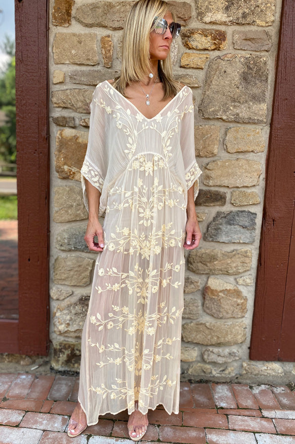 Floaty Cover Up Dress - Sand