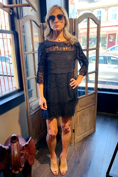 Sasha Lace Dress - Black
