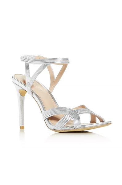 Isabella Strappy Heel Sandal - Silver