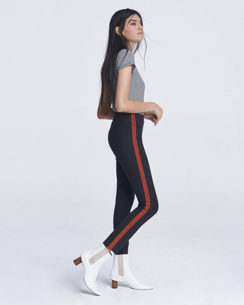 Simone High-Rise Side Stripe Pant - Salute