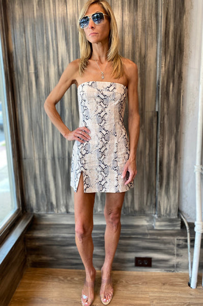 Franco Mini Dress - Snake Print