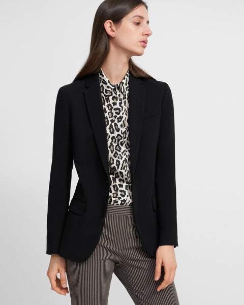 Staple Blazer in Crepe - Black
