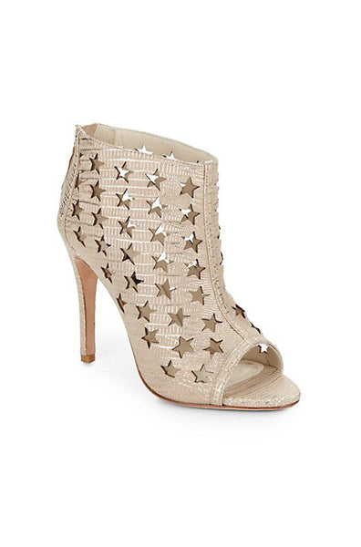 Giovanna Star Cutout Booties - Natural Gold
