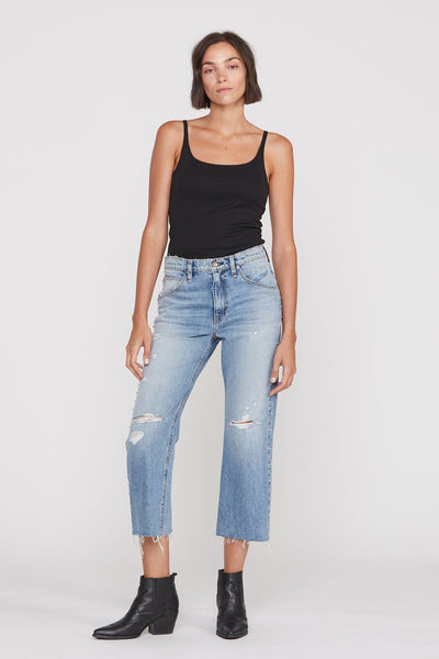 Sloane Extreme Baggy Crop Jean - Studded Tour