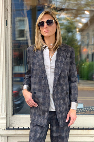 Plaid Wool Piazza Jacket - Multi