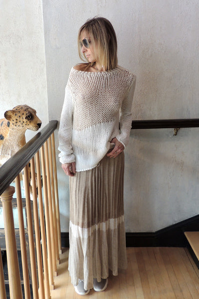 Knit Sweater - Sand Multi