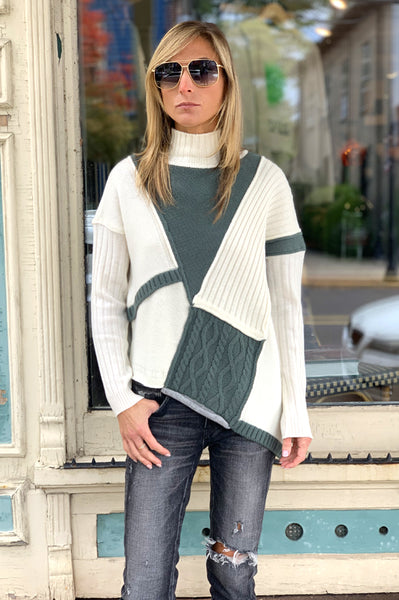 Asymmetrical Sweater - White
