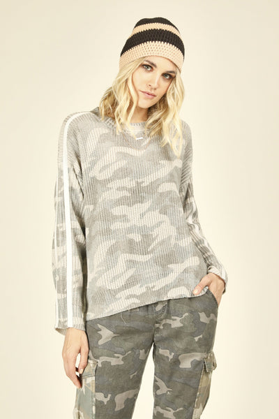 Camo Sweater - Light Taupe