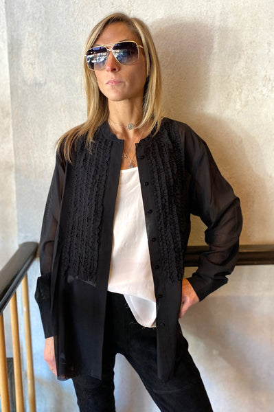 Textured Blouse - Black
