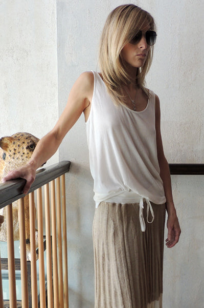 Scoop Neck Tank - Ivory