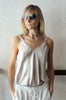 V Neck Camisole - Grey Beige