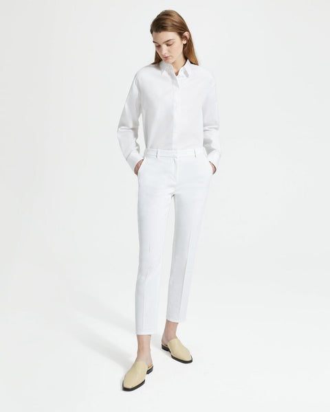 Good Linen Tailored Trouser - White