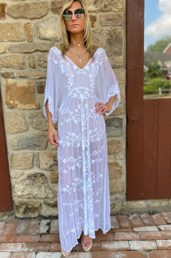 Floaty Cover Up Dress - White