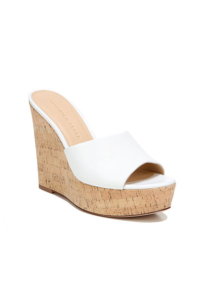 Dali Leather Platform Wedge - White