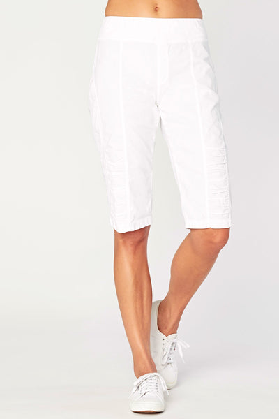 Bermuda Crop Shorts - White