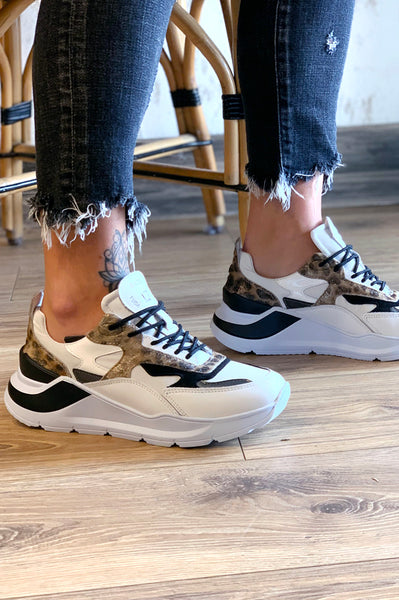 Fuga Animalier Sneakers - White Leopard