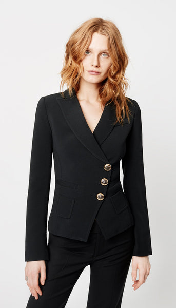 Wrap Blazer - Black