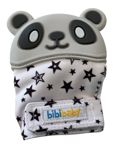 Panda Teething Mitts (Grey)