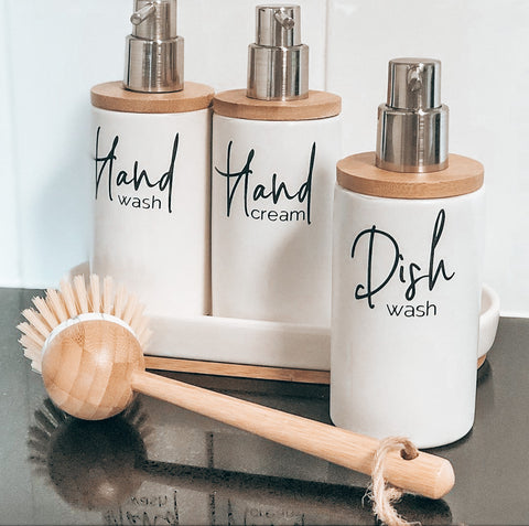 Hand Wash/Hand Cream Labels