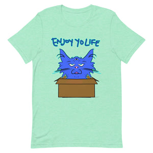 Best Favorite Enjoy Your Life Blue Cat in Cardboard Box T-Shirt