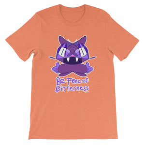 Best Favorite Be Free of Bitterness Purple Cat T-Shirt