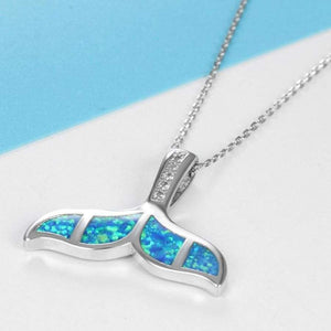 Blue Whale Tail Necklace