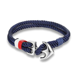 Nautical Anchor Bracelet - Navy