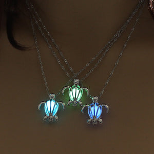 Luminescent Sea Turtle Pendant