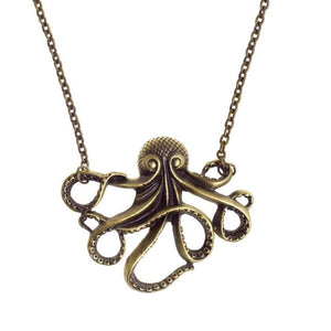 Stainless Steel Octopus Necklace