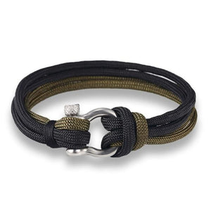 Survival Paracord Bracelet - Black And Green