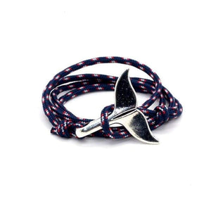 Whale Tail Bracelet - Blue Red