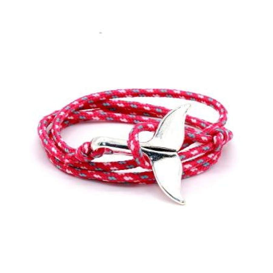 Whale Tail Bracelet - Pink