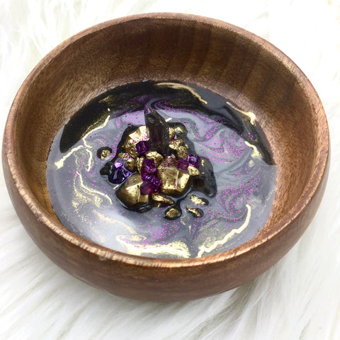 Swirled Abstract Resin Art Round Ring Dish - Mamota Creative
