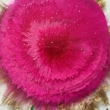 Load image into Gallery viewer, Close up of Alcohol ink hot pink flower coasters - Mamota Creative