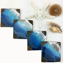 Load image into Gallery viewer, Deep Blue Ocean Coaster Set