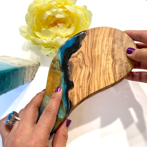 Mini Olive Wood Cheese Board for One