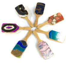 Load image into Gallery viewer, Detangling spa hairbrush with resin art in various colors - Mamota Creative