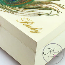 Load image into Gallery viewer, Personalized Peacock Feather Jewelry Box - Mamota Creative