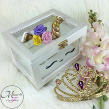 Load image into Gallery viewer, Personalized Unicorn Glass Jewelry Box - the perfect gift for a baptism - communion - flower girl - birthday - Mamota Creative