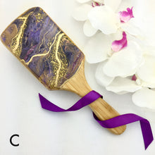 Load image into Gallery viewer, Amethyst geode resin art detangling spa hairbrush - Mamota Creative