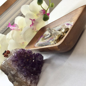 Purple hue ring and trinket dish - Mamota Creative