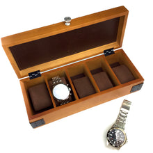 Load image into Gallery viewer, 5 COMPARTMENT WATCH CASE