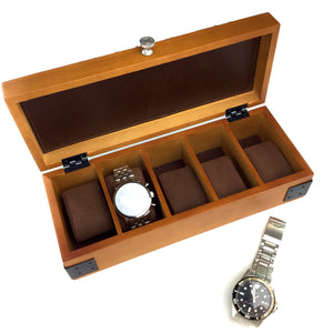 5 COMPARTMENT WATCH CASE