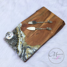Load image into Gallery viewer, Resin Geode with Crystals Cheese Board - Mamota Creative