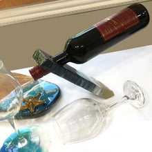 Load image into Gallery viewer, Balancing Floating Bottle Holder  with ocean theme resin art - Mamota Creative