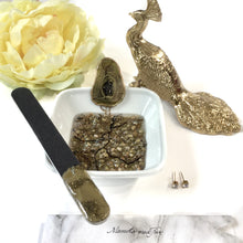 Load image into Gallery viewer, Gold geode resin art manicure bowl and nail file set ring dish - Mamota Creative
