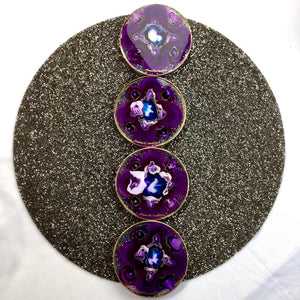 VIOLET WITH BLUE ALCOHOL INK COASTERS