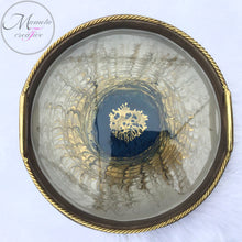 Load image into Gallery viewer, Resin Round Wooden Serving Decorative Tray with Matching Coasters Set - Mamota Creative