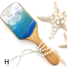 Load image into Gallery viewer, Ocean waves resin art detangling hairbrush - Mamota Creative